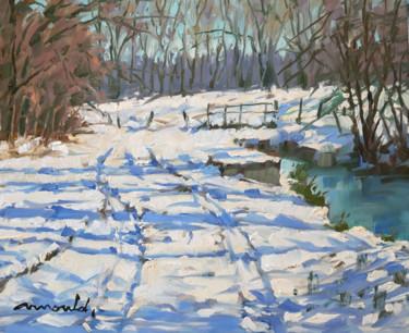 Neige à Ludres (huile sur toile 46 x 38)