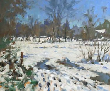 Dans Flavigny (huile sur papier 46 x 38)