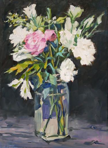 Le bouquet d'Eliane (huile sur papier 41 x 33)