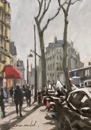 Rue Parisienne (Huile sur papier 28 x 41)