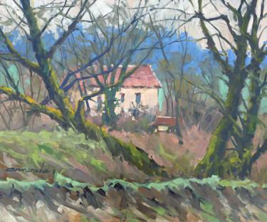 Au bord de la Moselle à Flavigny (huile sur toile 61 x 30)
