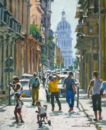 Scène urbaine (huile sur toile 55 x 46)
