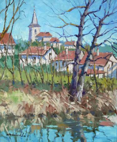 Au bord du canal à Richardménil (huile sur toile 55 x 46)