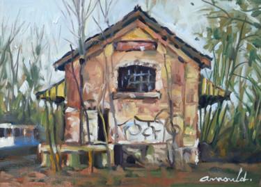 Vieil entrepôt (huile sur papier 26 x 34)
