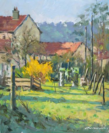 Petit matin à Flavigny (huile sur toile 46 x 38)