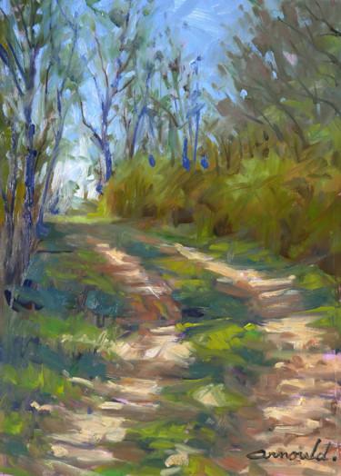 Chemin à Flavigny (huile sur papier 42 x 29,7)