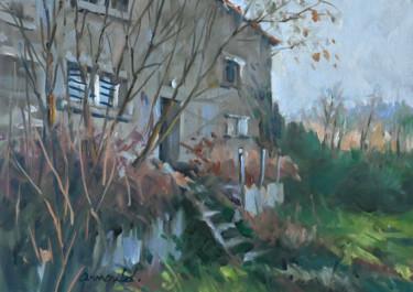 Maison en friche (huile sur papier 42 x 29,7)