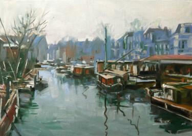 Port d'Amsterdam (huile sur Figueras 42 x 29,7)