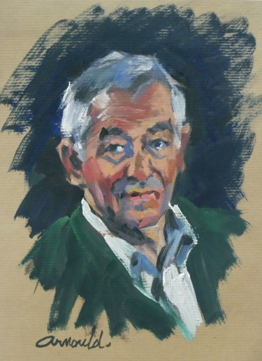le portrait du monsieur (huile Kraft 21 x 29,7)