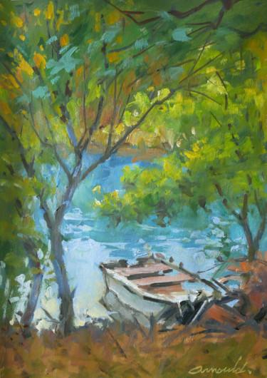 La barque de Marie Noëlle (huile sur papier 42 x 29,7)