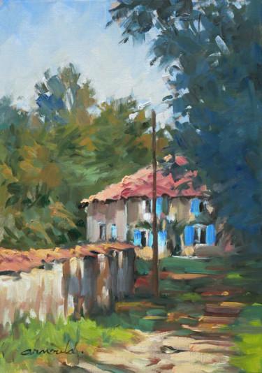 Maison à Puzieux (huile sur papier 42 x 30)