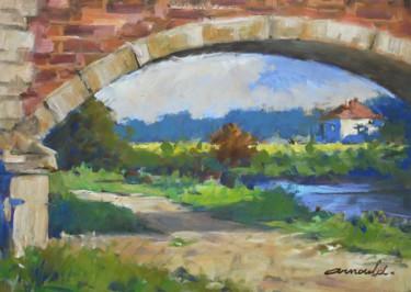 Sous le pont (huile sur papier 42 x 29,7)
