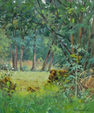 Sur le sentier à Flavigny (huile sur toile 55 x 46)