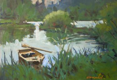 Une barque (huile sur papier 42 x 29,7)