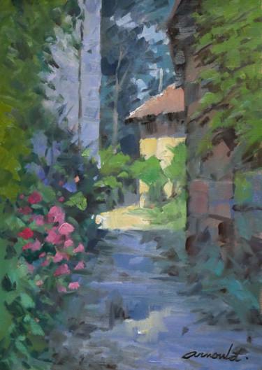 Ruelle dans l'ombre (huile sur papier 42 x 29,7)