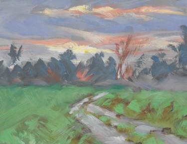 Fontenoy - la - joûte - Pochade (18 x14)