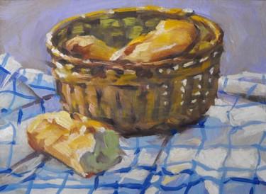 Pochade pain d'hier (huile sur carton - 22 x 16)