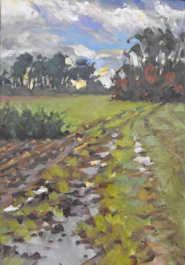 Contre-jour dans les champs (huile sur toile 55 x 38)