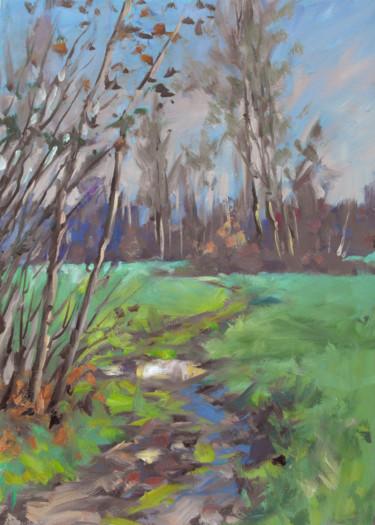 Vers la vieille rivière (huile sur toile 46 x 33)