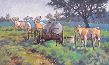 Les vaches du François  - huile sur toile 55 x 33