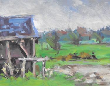 Glonville - pochade sur papier 18 x14.