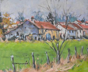 Vieille ferme à Mesnil Flin 2 (huile sur carton 27 x 22)