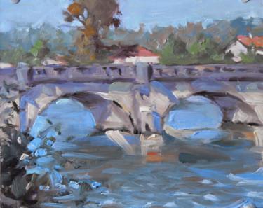 Pont de la Meurthe à Tomblaine (huile sur carton 24 x 19)
