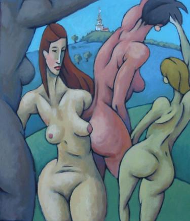 Les demoiselles de Sion  - Acrylique sur toile