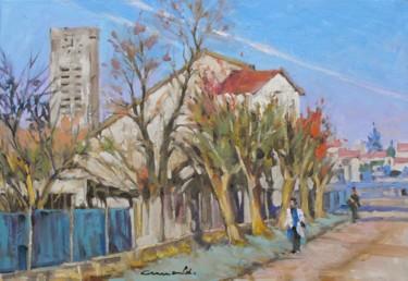 Église d'Azerailles (huile sur toile 55 x 38).