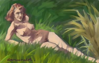 Nu dans l'herbe - Paint Tool SAI -