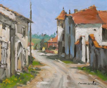 Maison au pigeonnier à Boulaincourt (huile sur carton 27 x 22)