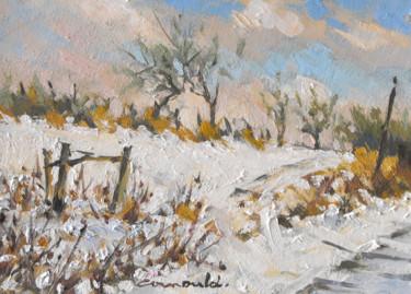 Vignes de Gugney sous la neige (pochade 22 x 16)