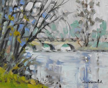 Pont d'Haroué (huile sur carton 27 x 22)