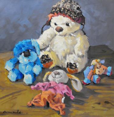 Les doudous (huile sur toile 50 x 50)