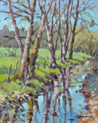 Ruisseau à Baccarat (huile sur toile 41 x 33)