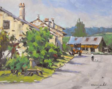 Rue du Paquis à Fontenoy-la-joûte (huile sur carton 41 x 33)