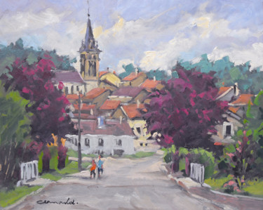 Entrée à Fontenoy-la-joûte (huile sur carton 41 x 33)