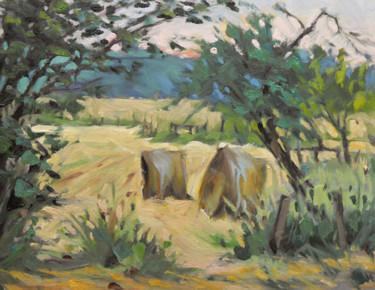 Par temps couvert (huile sur bois 35 x 27)