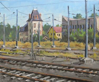 Vieille usine à Raon l'Etape ( huile sur toile 55 x 46 )
