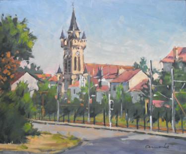Église Jeanne d'Arc à Lunéville (huile sur bois 46 x 38)