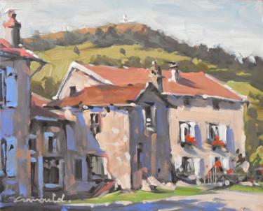 La maison du René à Gugney (huile sur bois 27 x 22)