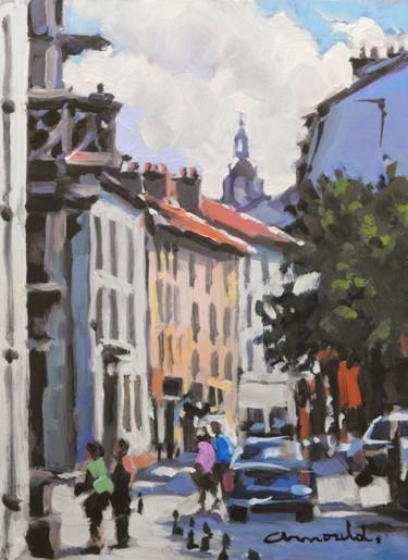 Vieille ville Nancy (huile sur bois 22 x 16)