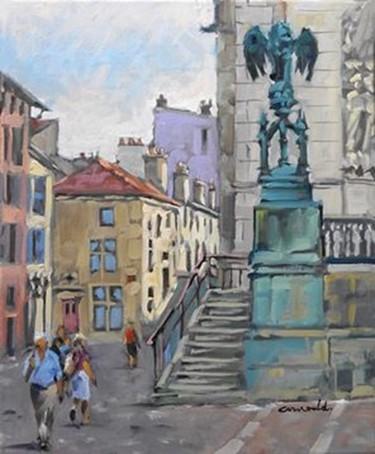 Place Saint Epvre à Nancy (huile sur toile 46 x 38)