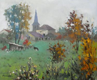 Dimanche brumeux à Glonville (huile sur toile 61 x 50)