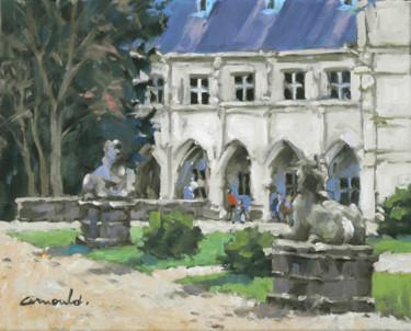 Cour du palais Ducal à Nancy (huile sur toile 41 x 33)