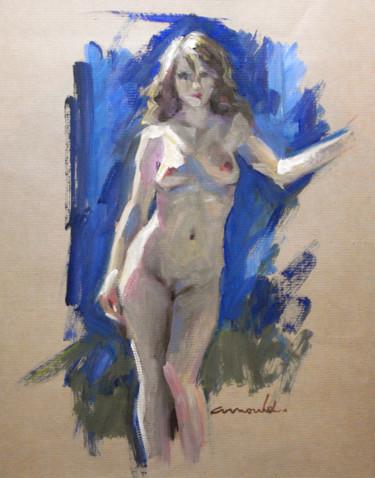Jeune femme sur papier Kraft (32 x 38)
