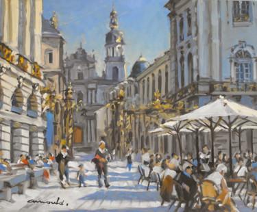 Place Stanislas à Nancy (huile sur bois 46 x 38)