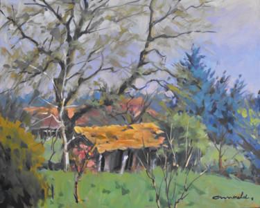 Friches à Fontenoy-la-joûte (huile sur bois 41 x 33)