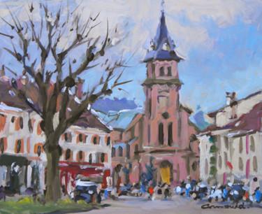 Pochade à Saint Dié (huile sur carton 27 x 22)