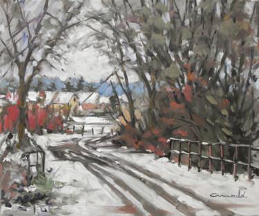 Fonte de la neige à Azerailles (huile sur toile 55 x 46)